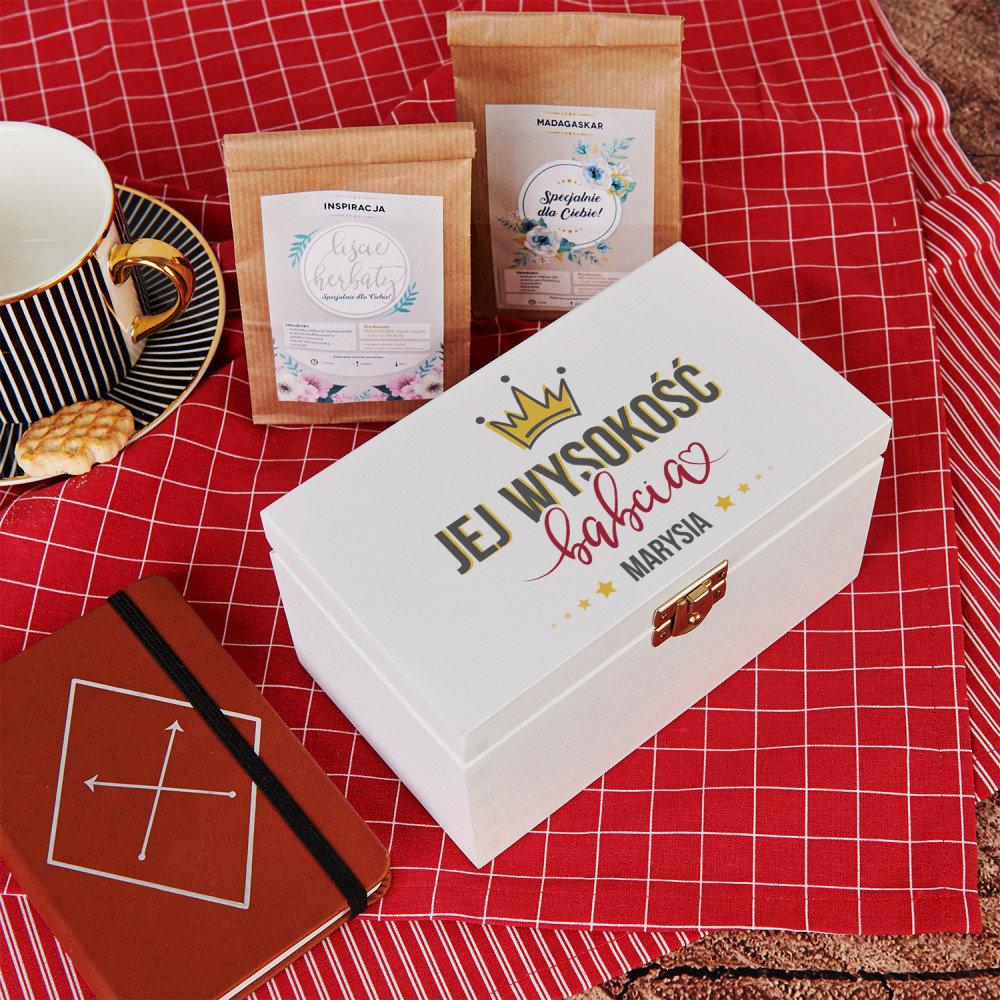 skrzynka na herbatę - co na prezent dla babci
