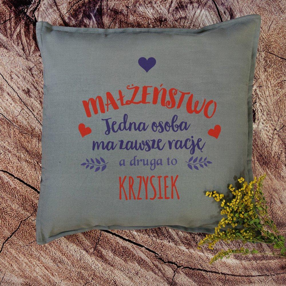 poduszka - pomysł na prezent na rocznicę ślubu
