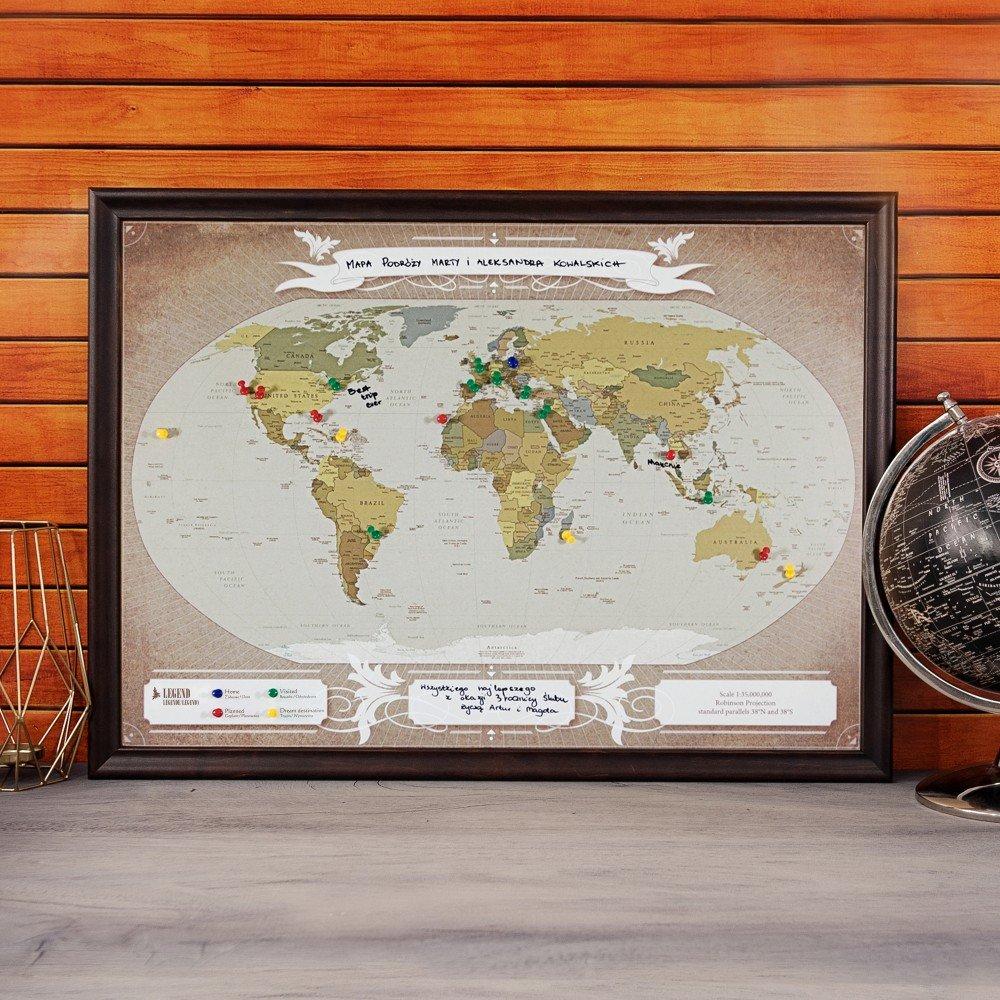 mapa podróży - prezent urodzinowy dla mężczyzny