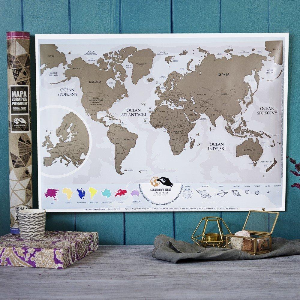 mapa zdrapka - jaki prezent na 50 urodziny dla kobiety