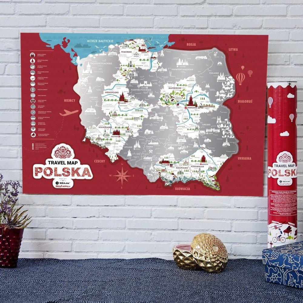mapa - co na prezent dla babci