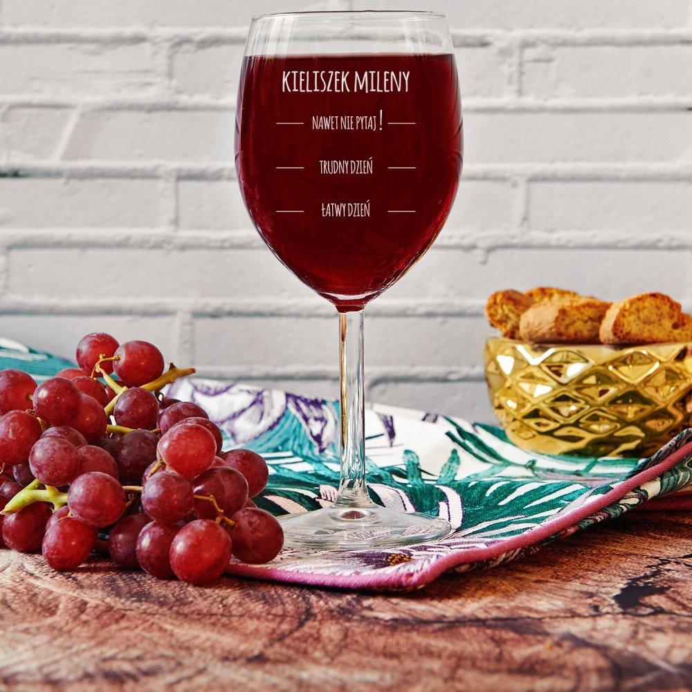 kieliszek do wina - jaki prezent na walentynki dla kobiety