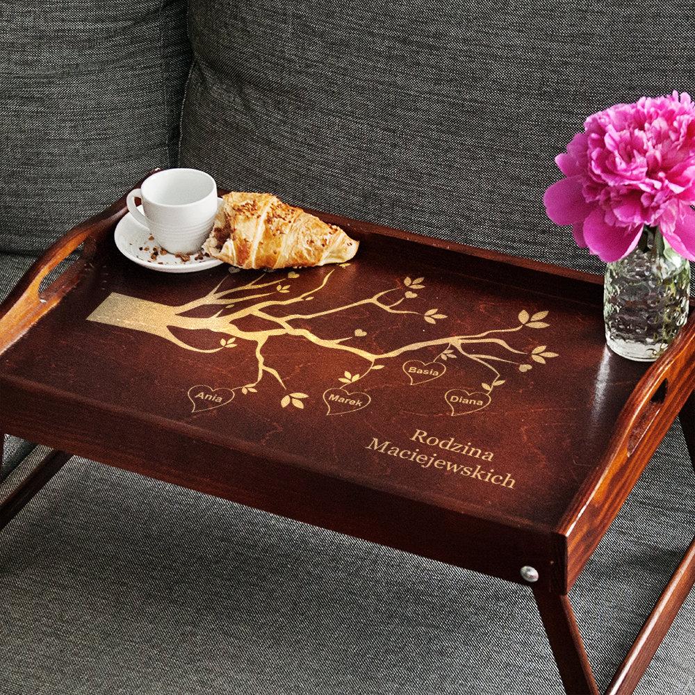 taca śniadaniowa - prezent dla dziadków