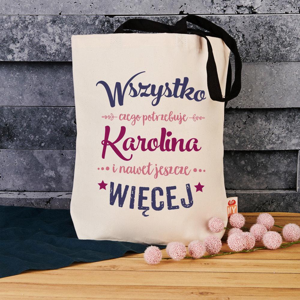 torba bawełniana - prezent na imieniny dla kobiety